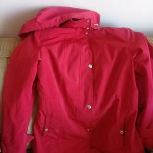 Red jacket. Perfect for spring and fall.
